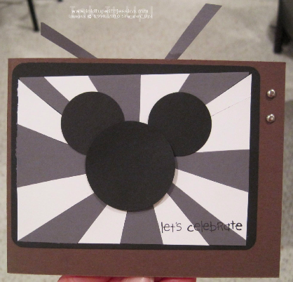 oct27 Punch Art Mickey Mouse Card