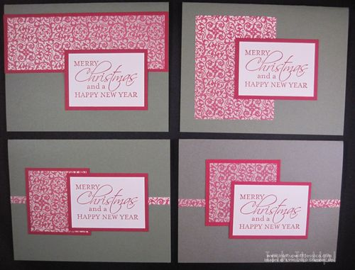 nov28 4 One Sheet Wonder Christmas Cards
