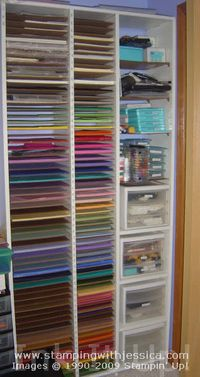 july29 Craft Supply Organization: Paper Shelf