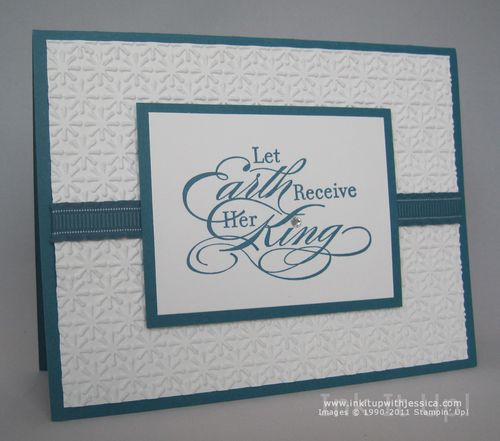 Embossed Christmas Card - Ink It Up! with Jessica | Card Making ...: inkitupwithjessica.com/elegant-embossed-christmas-card