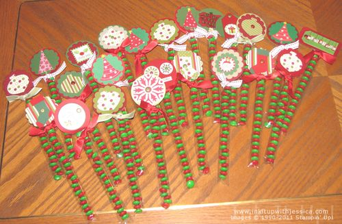 M christmas treat bags ink it up with jessica card