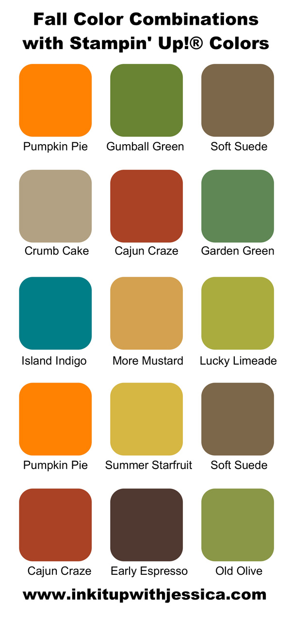 Fall Color Scheme Beauteous Of Stampin Up Color Combinations Image