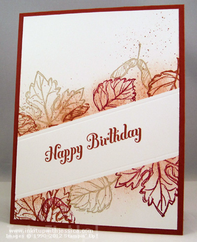 Fall Leaves Birthday Card Fall Birthday Card