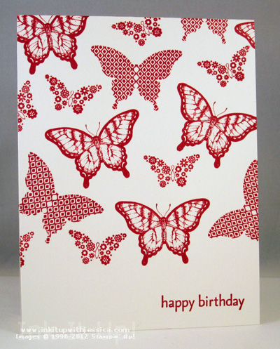 Single Layer Butterfly Card Single Layer Cards