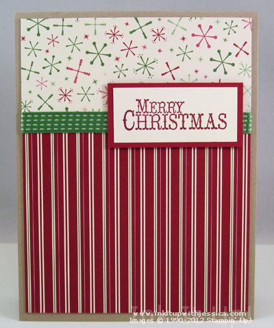 DSP Merry Christmas Card Handmade Christmas Cards with Pretty Papers