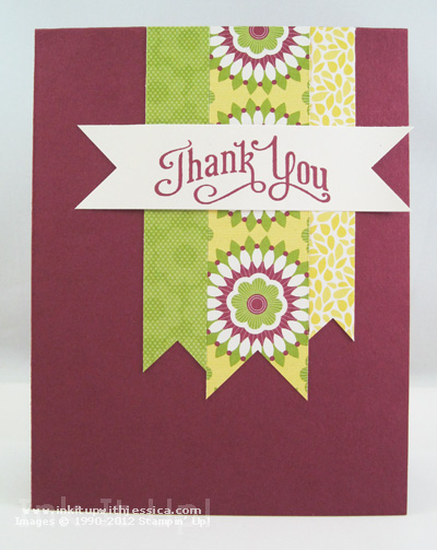 Paper Scrap Thank You Card Use your Paper Scraps!