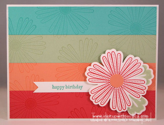 New In Color Card Mixed Bunch Birthday Card