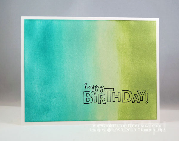 Sponged Background Birthday Card - Ink It Up! with Jessica ...