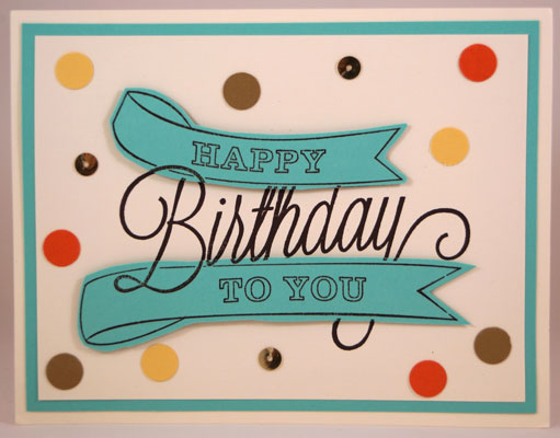 Birthday Card Stampin Up! Leadership 2014 Card Swaps