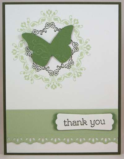 Butterfly Medallion Card Stampin Up! Leadership 2014 Card Swaps