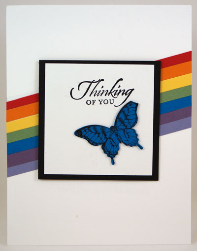 Butterfly Rainbow Card Stampin Up! Leadership 2014 Card Swaps
