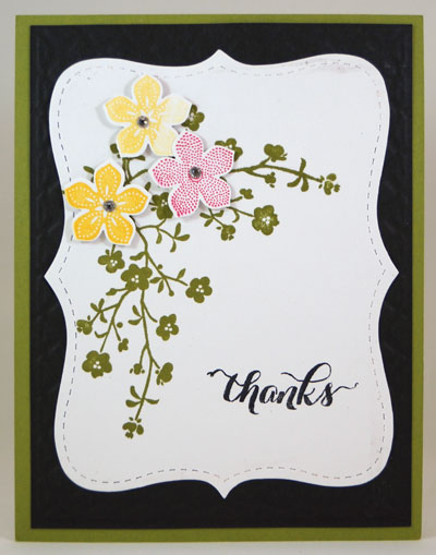 Floral Thank You Card Stampin Up! Leadership 2014 Card Swaps