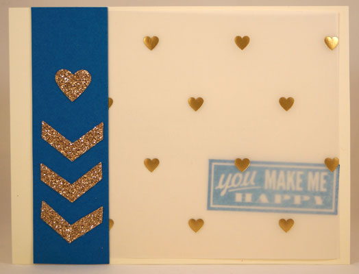 Gold Happy Card Stampin Up! Leadership 2014 Card Swaps