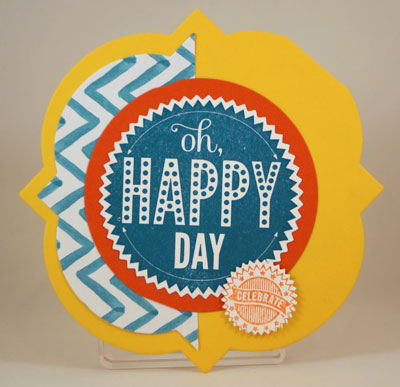 Happy Day Shaped Card Stampin Up! Leadership 2014 Card Swaps