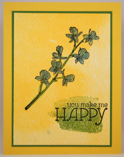 Happy Watercolor Card Stampin Up! Leadership 2014 Card Swaps