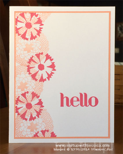 Hello Card Stamping Outside the Lines