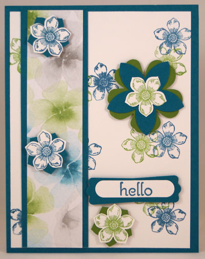 Hello Flower Card Stampin Up! Leadership 2014 Card Swaps