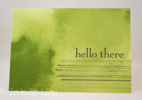 Hello Watercolor Notecard Thinking of You... with Watercolor Wonder Note Cards
