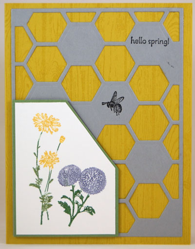 Honeycomb Texture Card Stampin Up! Leadership 2014 Card Swaps