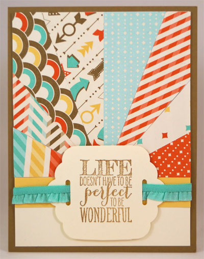 Life Sunburst Card Stampin Up! Leadership 2014 Card Swaps
