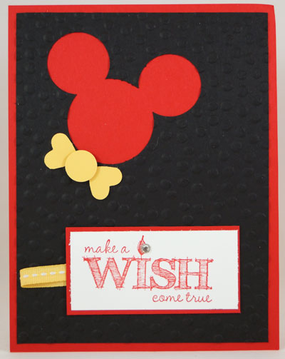 Mickey Mouse Birthday Card Stampin Up! Leadership 2014 Card Swaps