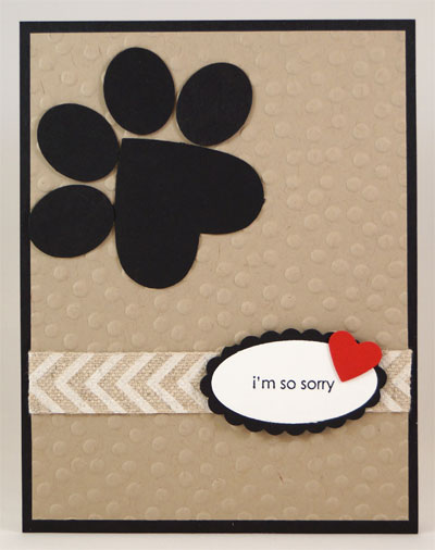 Pet Sympathy Card Stampin Up! Leadership 2014 Card Swaps