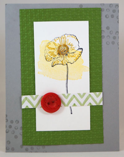 Single Watercolor Flower Stampin Up! Leadership 2014 Card Swaps