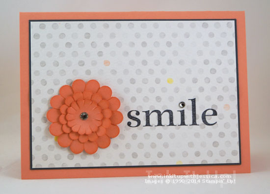 Smile Watercolor Notecard Thinking of You... with Watercolor Wonder Note Cards