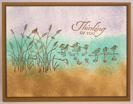Sponged Thinking of You Car Stampin Up! Leadership 2014 Card Swaps