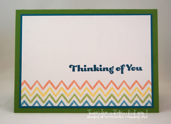 Thinking of you Chevron Car Thinking of You... with Watercolor Wonder Note Cards