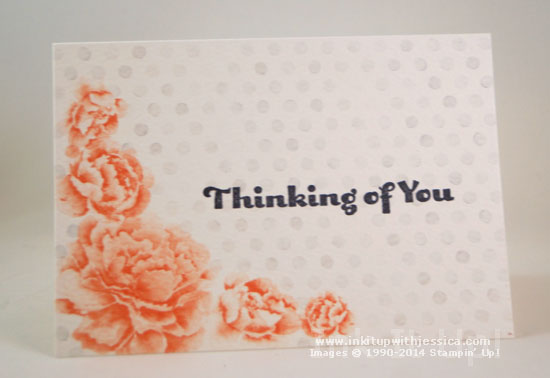 Watercolor Notecard Thinkin Thinking of You... with Watercolor Wonder Note Cards