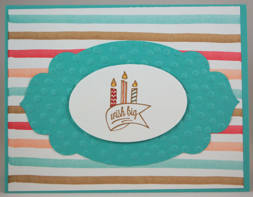 Wish Big Birthday Card Stampin Up! Leadership 2014 Card Swaps