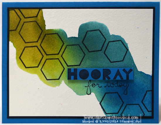 Hooray Watercolor Card Watercolor Background Technique