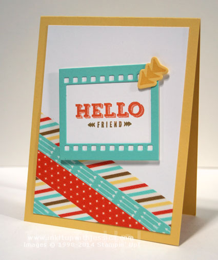 Hello Friend Card Hello Friend Washi Tape Card
