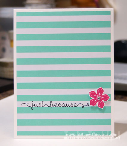 Petite Petals Striped Card Do you really need a reason to send a handmade card?