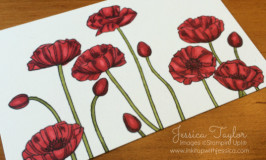 Pleasant Poppies colored with Blendabilities markers