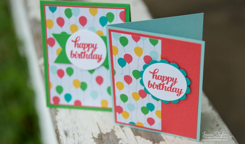 quick  easy thank you card  ink it up with jessica