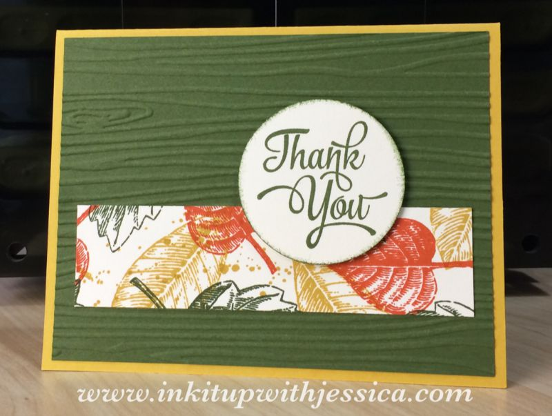 Vintage Leaves Thank You Card