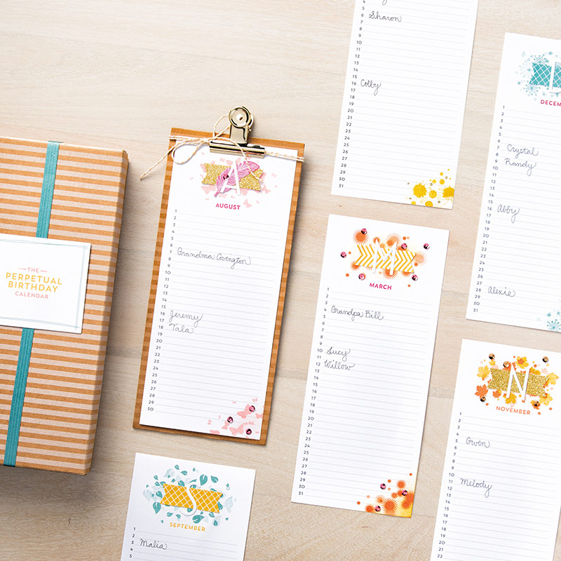 Perpetual Calendar Stamp : No more late birthday cards giveaway ink it up with