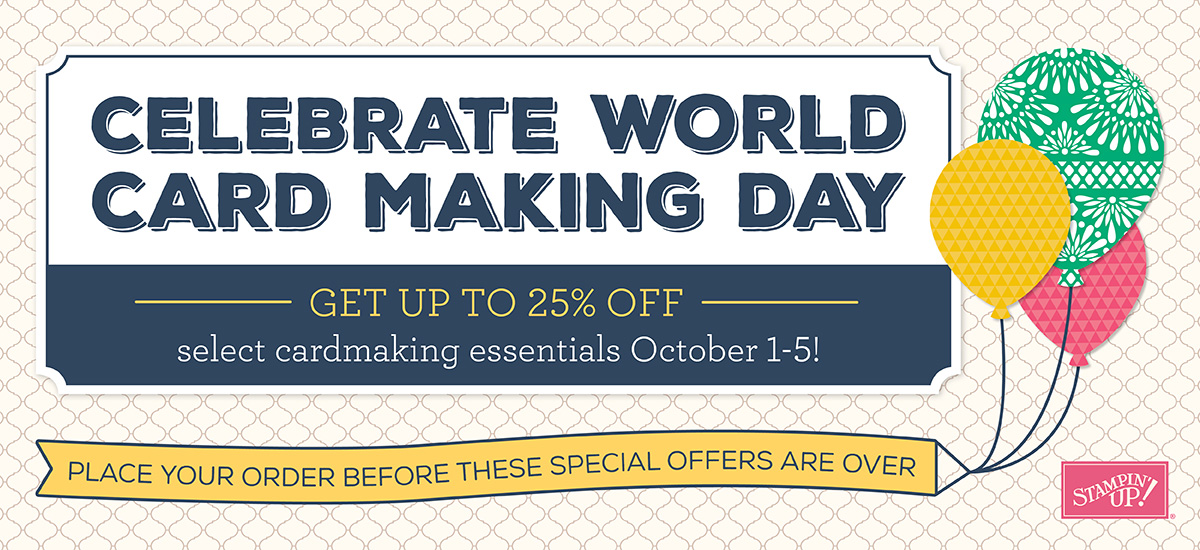 World Card Making Day Specials 2016