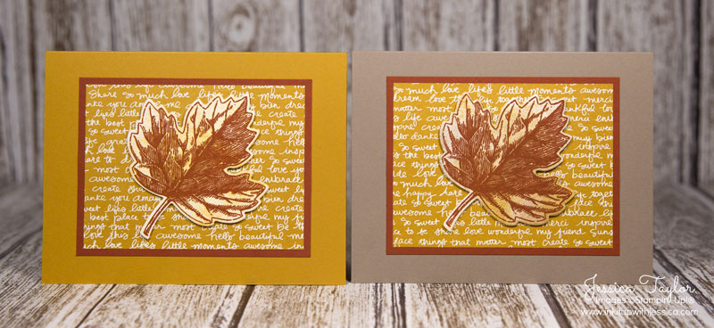 Vintage Leaves Fall Cards