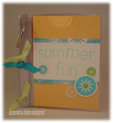 Summer Fun Mini Book Ink It Up With Jessica Card Making Ideas