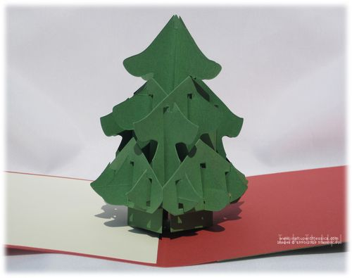 Christmas tree pop up card ink it up with jessica card for Christmas tree cards to make