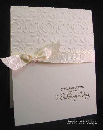 Easy Elegant Wedding Card Ink it Up With Jessica Card Making