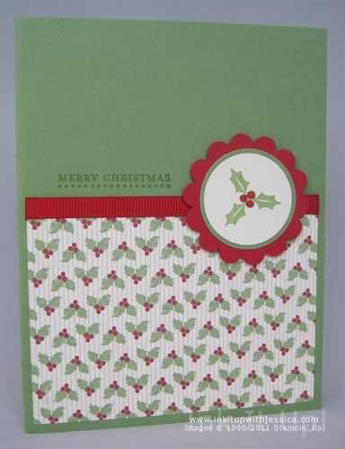 quick christmas card idea ink it up with jessica card making