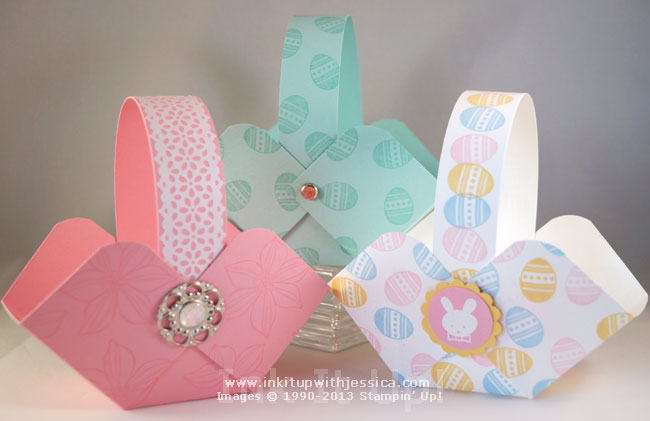 Make easter baskets ink it up with jessica card making ideas card stock easter baskets negle