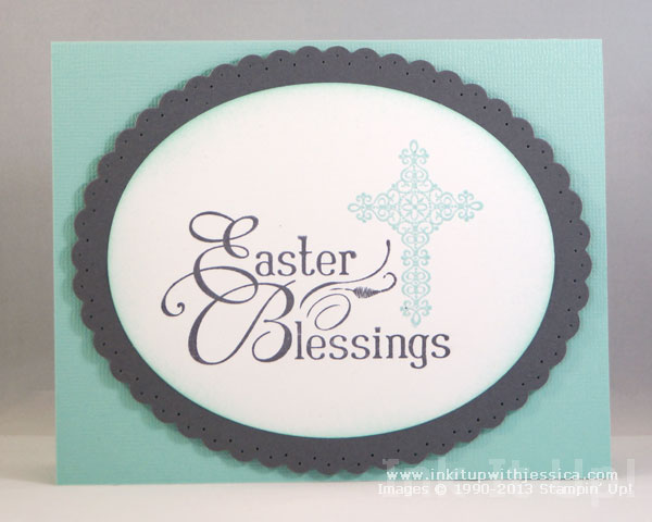 Easter Blessings Card Ink It Up with Jessica – Easter Stamps Card Making