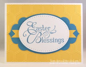 Easter Card Blue & Yellow