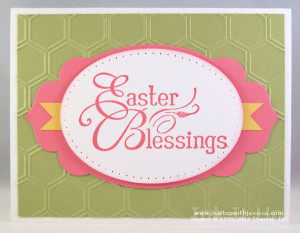 Easter Card Green Pink