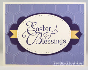 Easter Card Purple Yellow